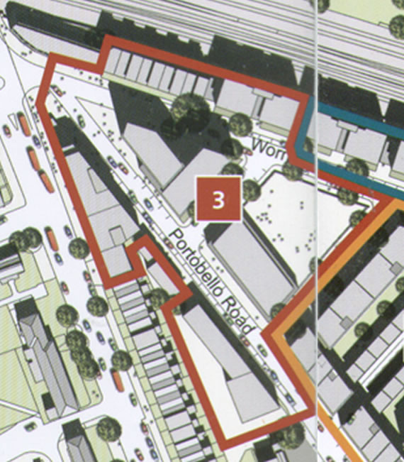 The KHT preferred site on the masterplan